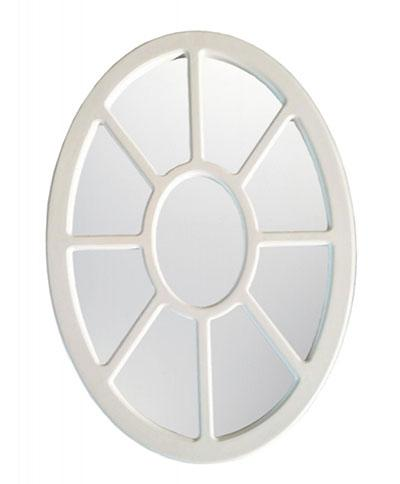 MDF framed oval mirror