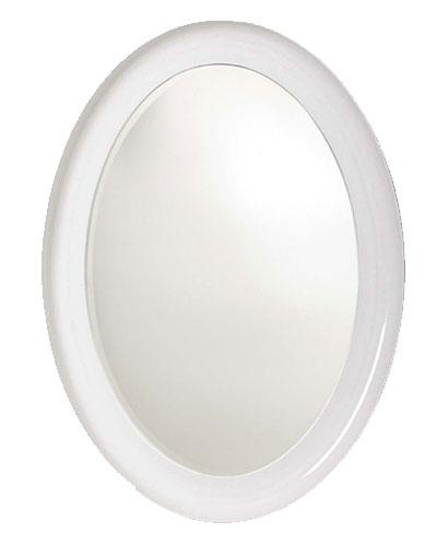 Large Oval PU Framed Beveled Mirror
