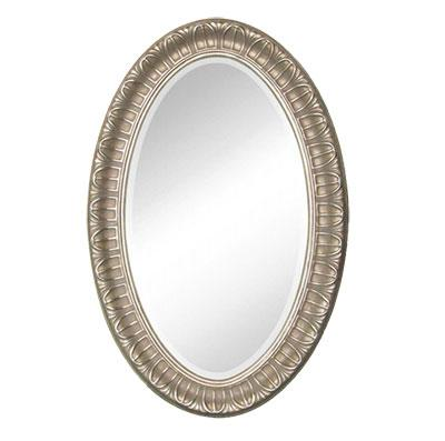 PU framed oval mirror