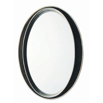 Black Crushed Oval  Glass Mirror