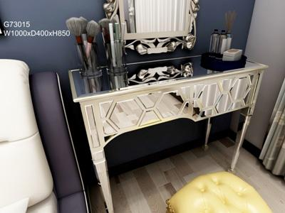 G73040 Makeup Vanity and Dressing Table with Glass Mirror