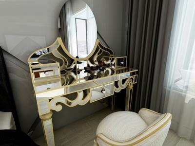 G73071 Makeup Vanity and Dressing Table with Glass Mirror
