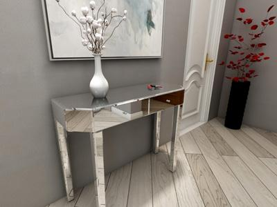 G73059 Makeup Vanity and Dressing Table with Glass Mirror