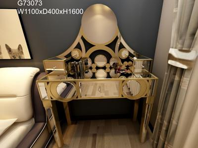 G73073 Makeup Vanity and Dressing Table with Glass Mirror