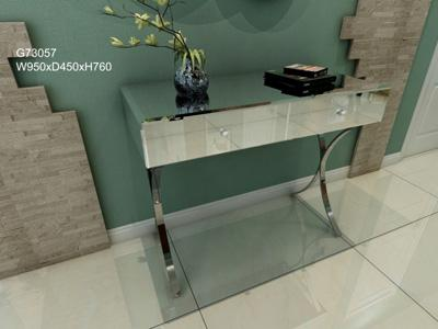G73057 Mirrored Glass Decorative Entryway Table
