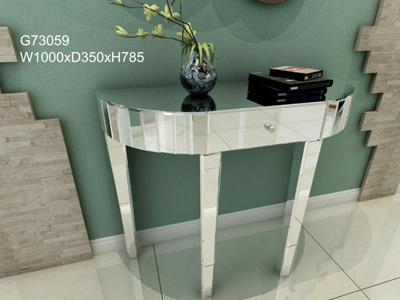 G73059 Mirrored Glass Decorative Entryway Table