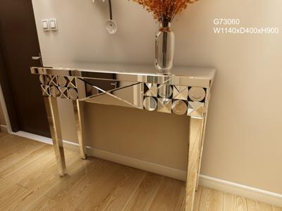 G73060 Mirrored Glass Decorative Entryway Table
