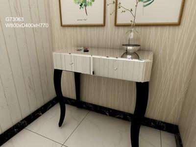 G73063 Mirrored Glass Decorative Entryway Table