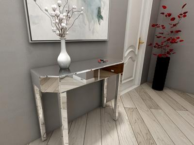 G73072 Mirrored Glass Decorative Entryway Table