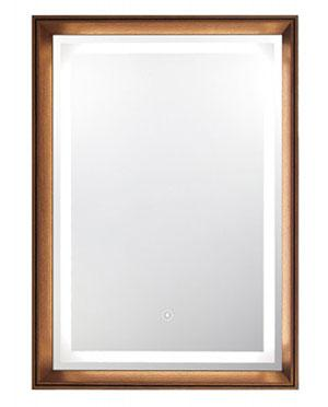 Framed Glass Mirror with LED Light Tube
