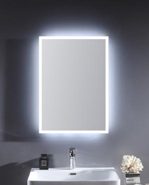 Glass Frameless Wall Mirror with LED Backlit Light